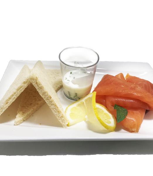 1318 Assiette de saumon fumé maison, crème d'aneth [800x600]