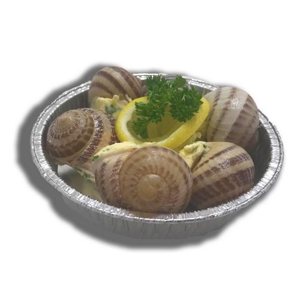 6 escargots de Radinghem au beurre à l'ail